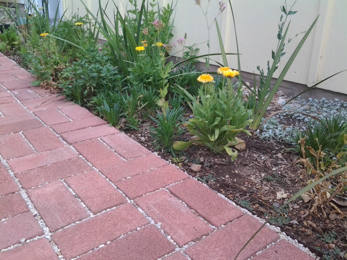 Permeable pavers installed at a residence.