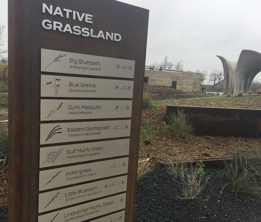 Native Plant signage at Confluence Park
