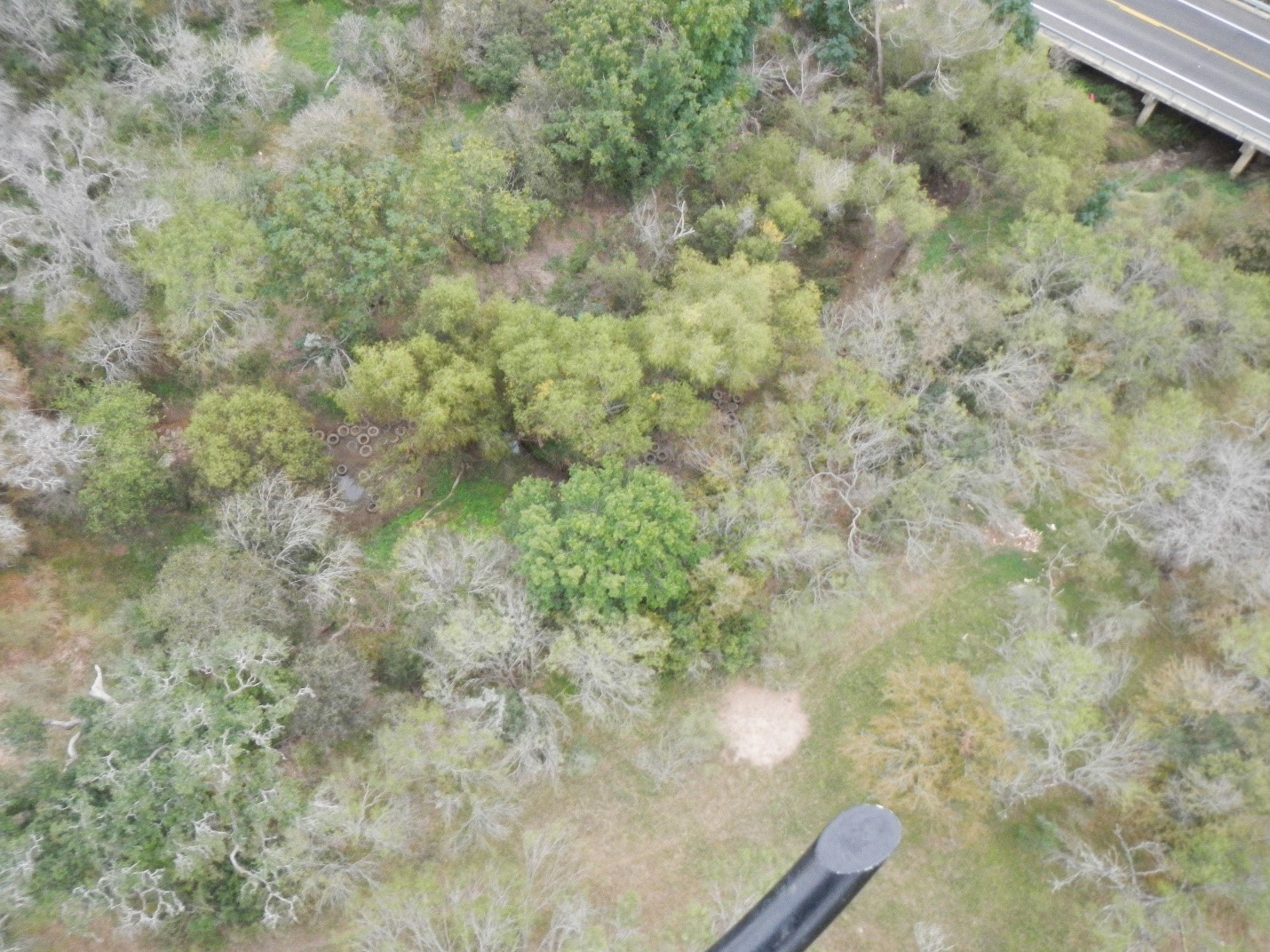 River Authority's Environmental Investigations team conducting an aerial exercise to detect illegal dumping sites along the San Antonio River Basin