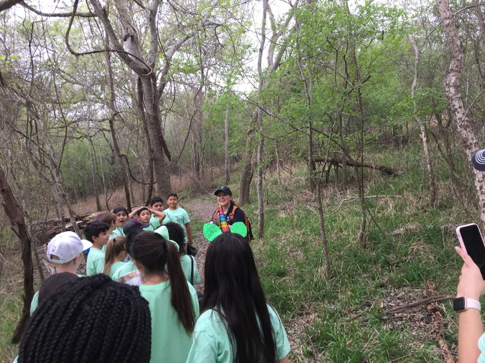 River Authority's Education and Engagement team conducting a field trip