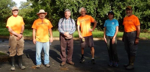 Members of the Balcones Invaders volunteer group