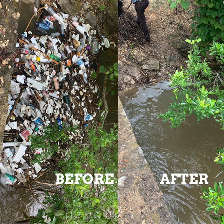 Trash cleanup efforts of the Balcones Invaders volunteer group are highlighted in the River Authority blog