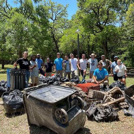 Members of the RiverAid San Antonio volunteer group
