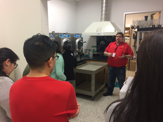St. Mary's University Field-Based Environmental Chemistry course students take part in a tour of the River Authority ESD lab