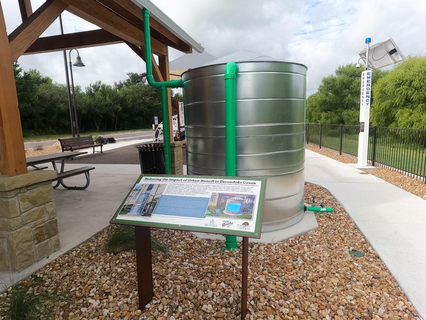 Cistern at Escondido Creek Parkway in Kenedy, TX