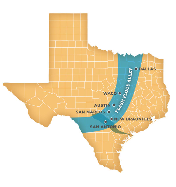 Texas Flood Alley Map