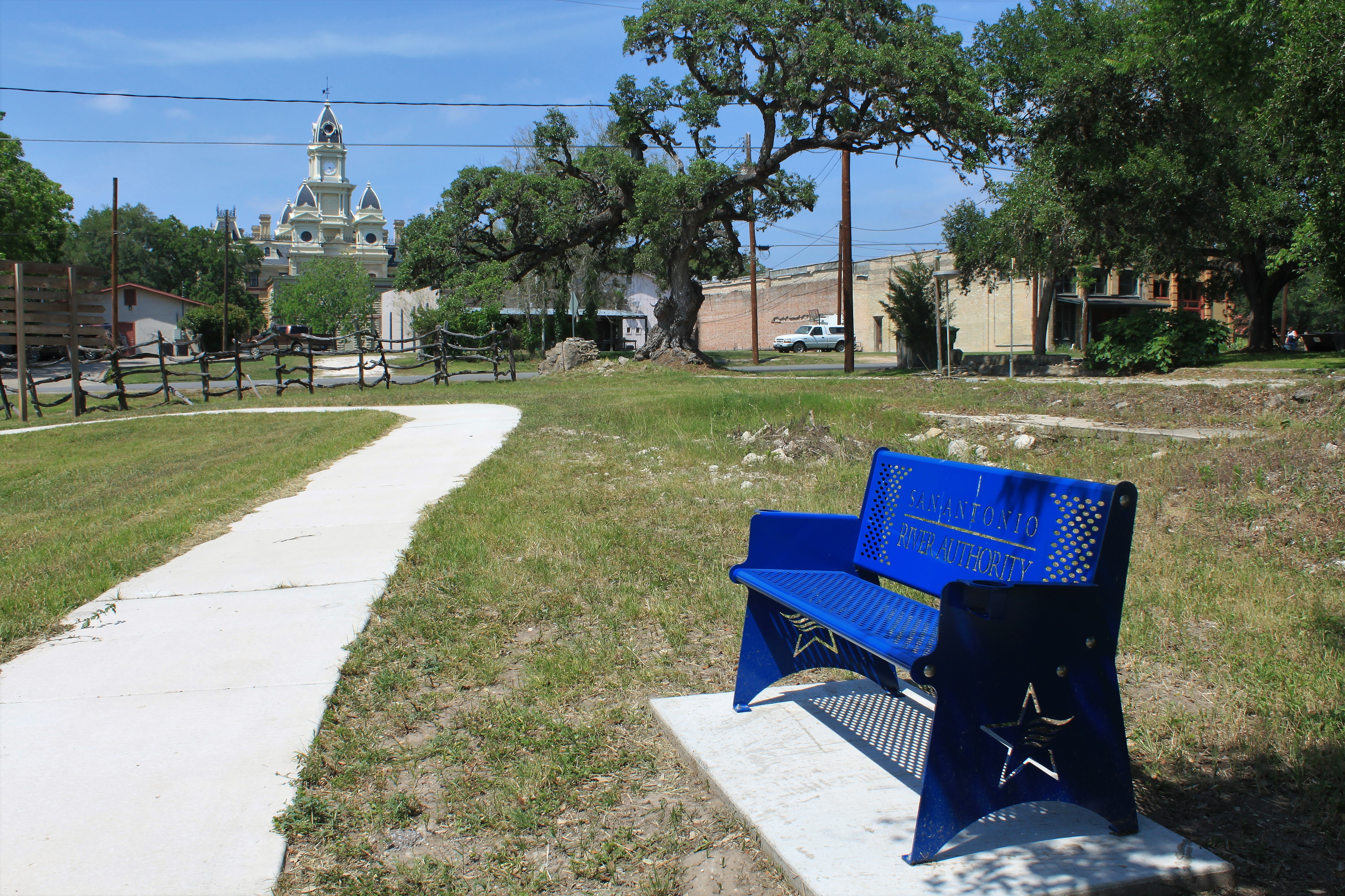Branch River Park, Downtown Goliad View