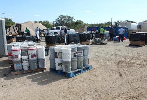 Hazardous household waste being collected as part of the Wilson County fall event in 2019