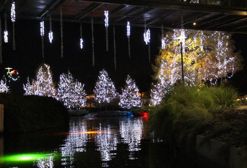 Museum Reach River of Lights at Turning Basin near Historic Pearl.