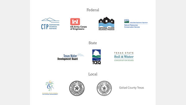 Federal, state, and local flood control partners for the River Authority