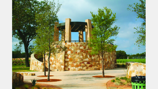 Mission Concepcion portal 2 on the San Antonio River Walk - Mission Reach
