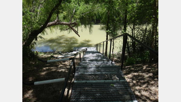 Put-in Ramp at Goliad Paddling Trail
