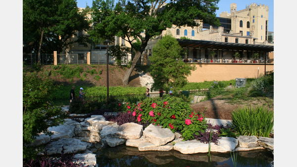 Landscaping along the San Antonio River Walk - Museum Reach
