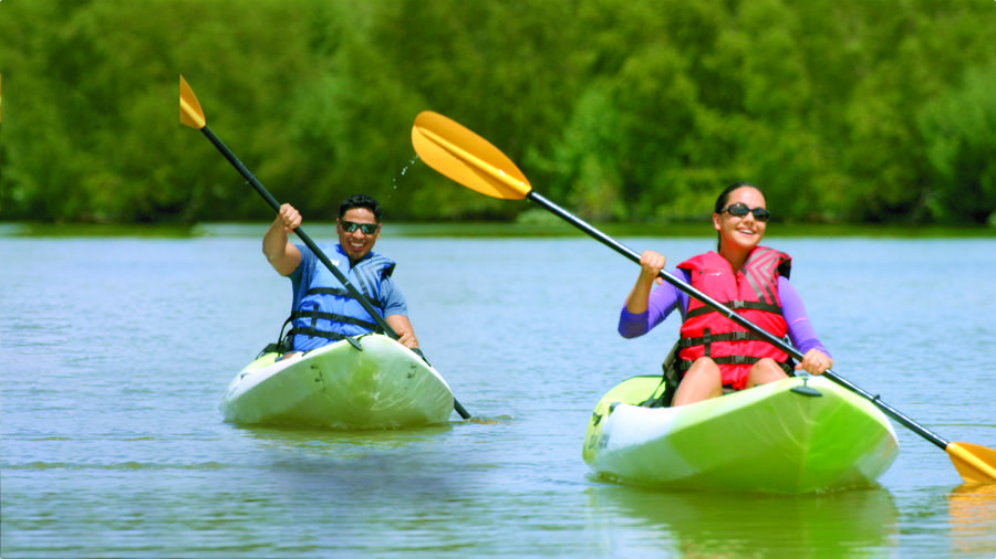 Mission Reach Paddlers