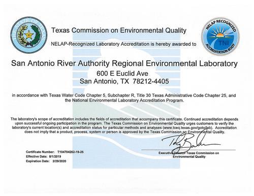 NELAP Laboratory Certificate