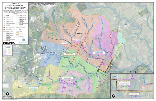 River Authority Utilities Customers Served Map