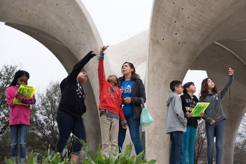 Students participate in a field trip at Confluence Park