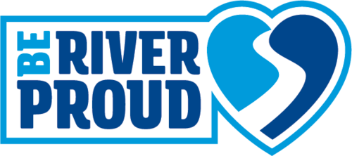 San Antonio River Authority's Be River Proud logo.