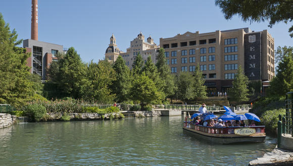 The San Antonio River Walk - Museum Reach - at Pearl