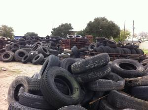piles of tires