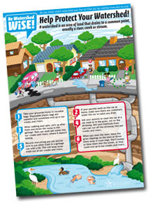 Watershed Wise kids poster