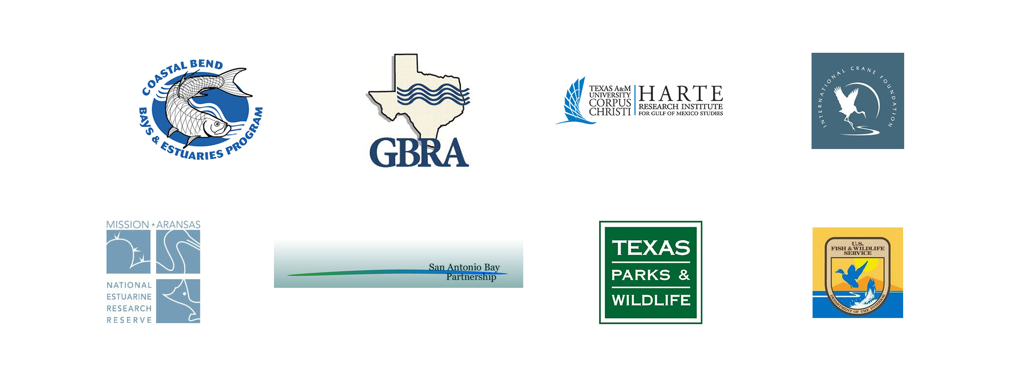 San Antonio River Authority - Bays and Estuaries partner logos