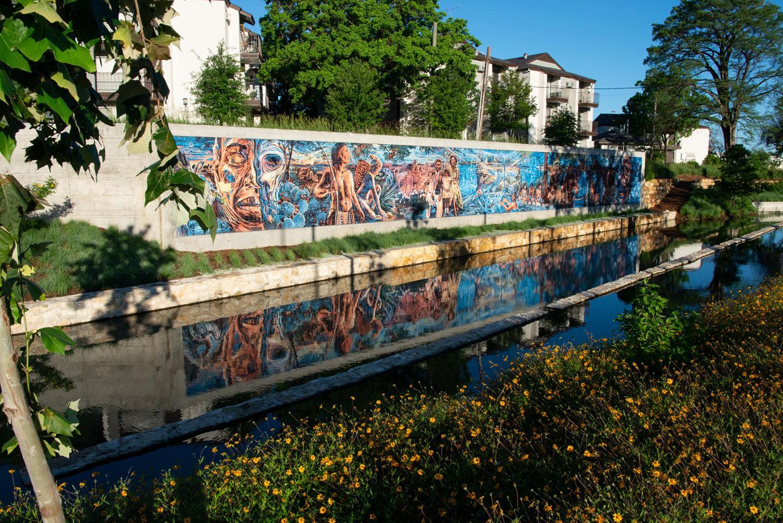 San Pedro Creek Culture Park Todos Somos Unos Mural