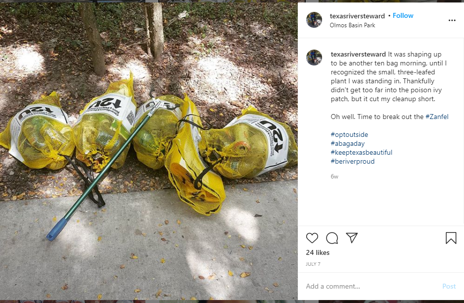 Constituent David Zambrano's Instagram Post for Be River Proud Blog Post