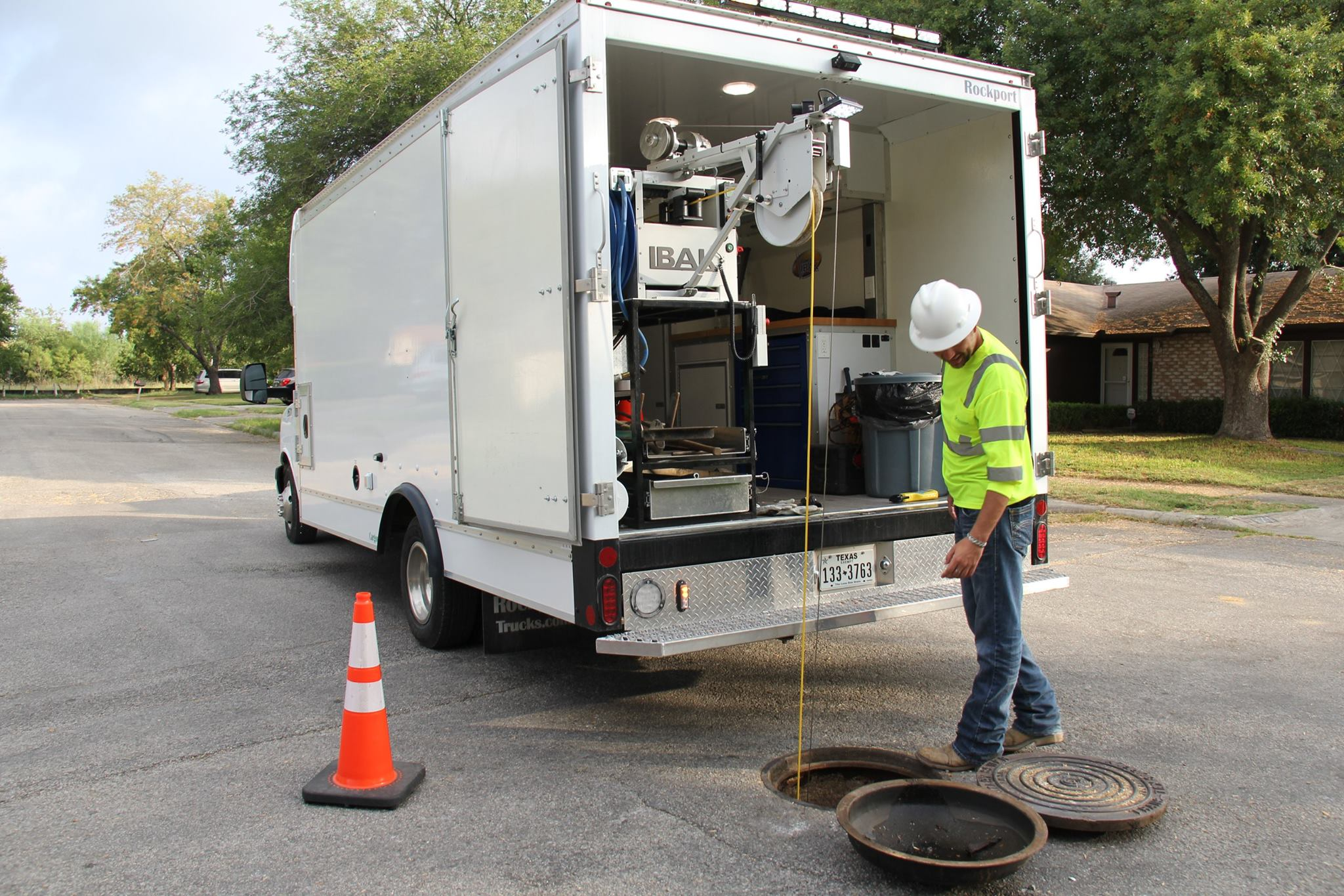 River Authority Utilities staff regularly performs preventative maintenance by cleaning the lines.