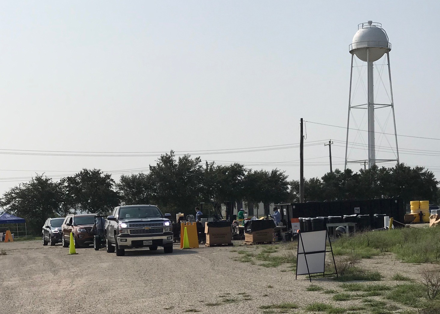 Karnes County residents participate in the River Authority's Fall Household Hazardous Waste Collection Event on September 19, 2020.