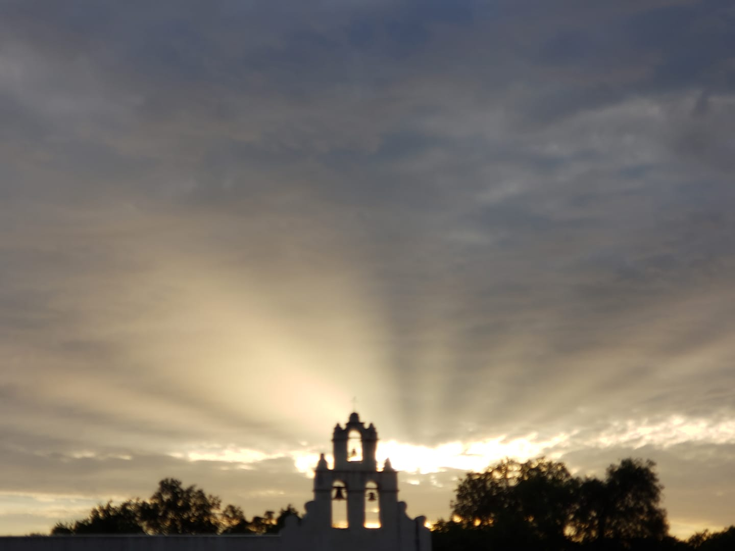 Jacob Rux likes to take beautiful photos like this one of the San Antonio Missions when he's biking the Mission Reach segment