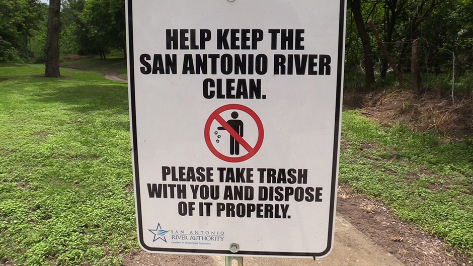 River Walk Mission Reach Trash Collected